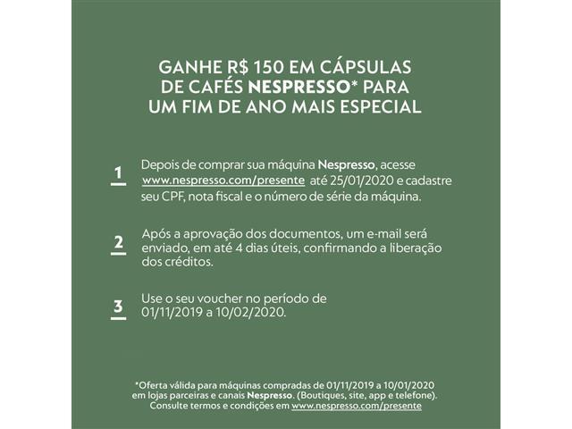 Kit Nespresso Cafeteira Expert Black & Aeroccino 3 - 1