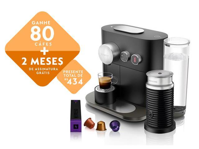 Kit Nespresso Expert Black + Aeroccino 3 com Kit Boas Vindas