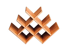 Rack de Mesa para Vinho MOR Bamboo 8 Lugares