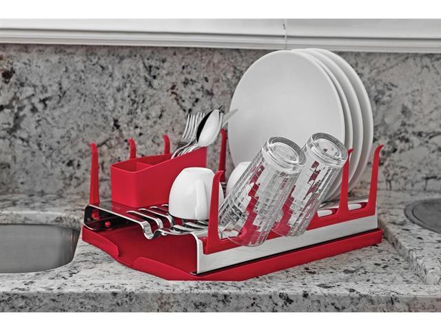 Escorredor de Louças Tramontina Plurale Aço Inox Vermelho - 2