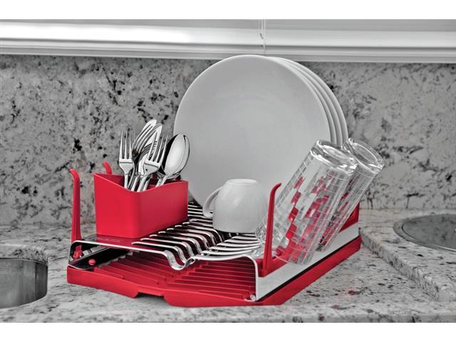 Escorredor de Louças Tramontina Plurale Aço Inox Vermelho - 3