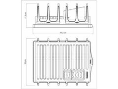Escorredor de Louças Tramontina Plurale Aço Inox Vermelho - 4
