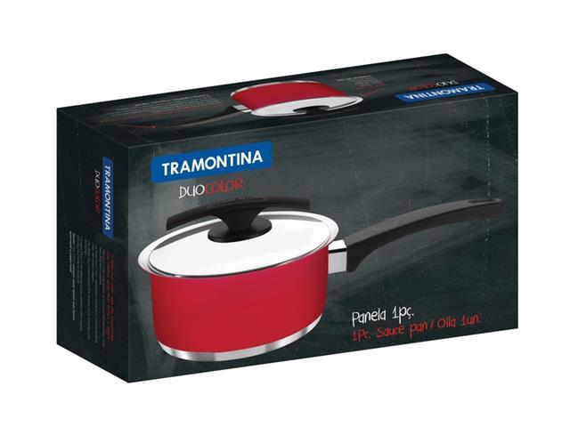 Panela Tramontina Aço Inox Duo Color Ø 16 cm - 2