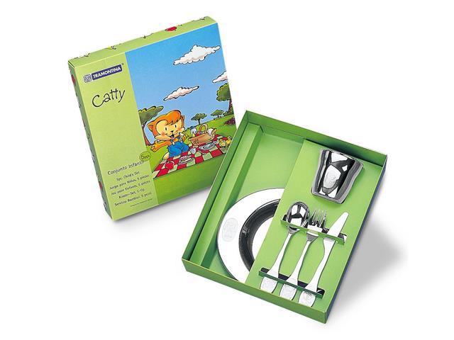 Jogo para Refeição Infantil Tramontina Catty Inox 5 Peças - 3