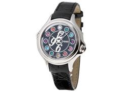 079231f11cf Relógio Fendi Feminino Couro Preto Com Gemas