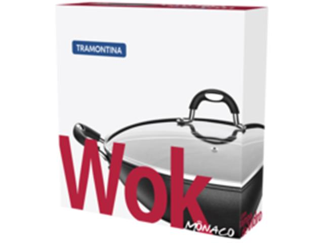Panela Wok Tramontina Mônaco Preta Ø 36 cm - 2