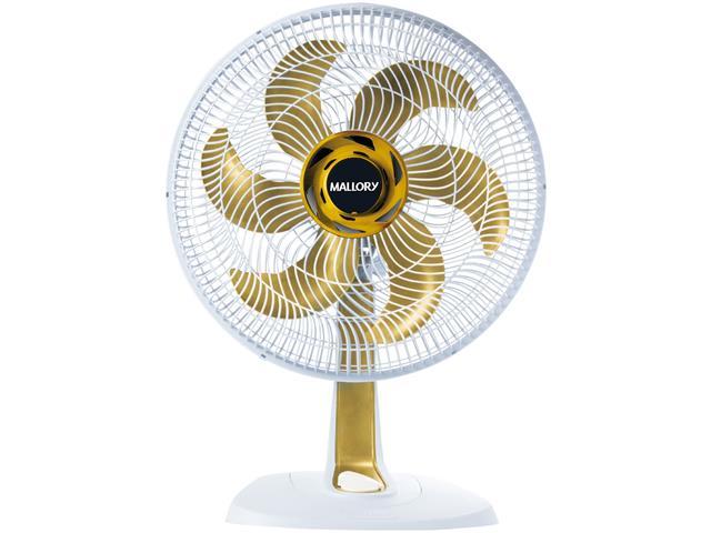 Ventilador Mallory Ts40+ 40cm Gold Branco 110V