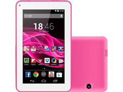 """Tablet Multilaser M7S Android 4.4 Dual Câmera Wi-Fi 7"""" 8GB Rosa"""