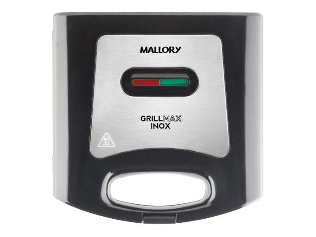 Grill e Sanduicheira Mallory Max 750W Preta e Inox 110V - 2