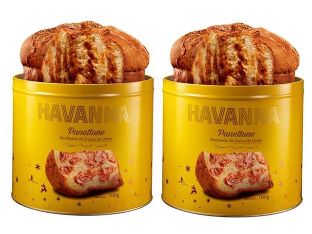 Combo Havanna 2 Panettones Lata Doce de Leite 700g