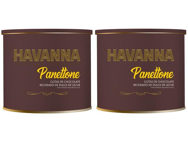 Combo Havanna 2 Panettones Lata Doce de Leite c/ Gotas de Choc. 700g   - 4