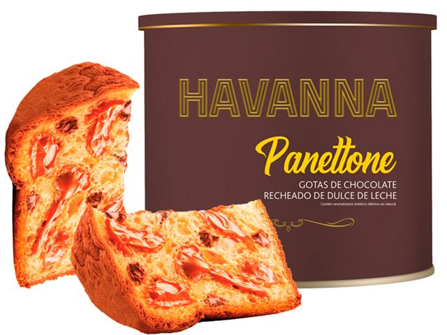 Combo Havanna 2 Panettones Lata Doce de Leite c/ Gotas de Choc. 700g   - 1