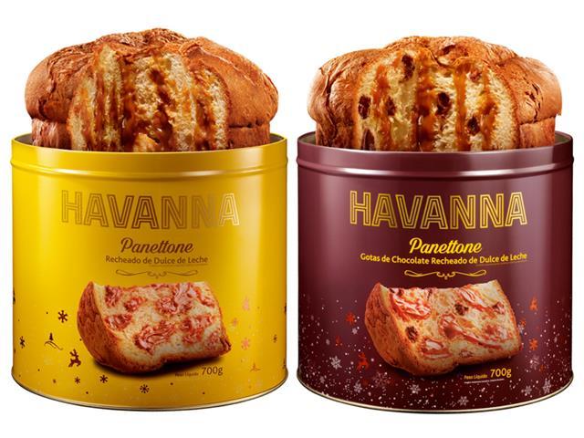 Combo Havanna Panettone Lata Doce de Leite + Gotas de Chocolate 700g