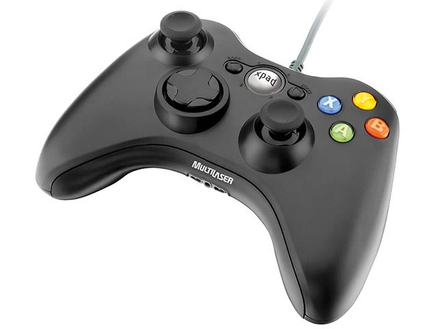 Controle Games Multilaser JS063 Dual Shock Xpad PC / XBOX 360