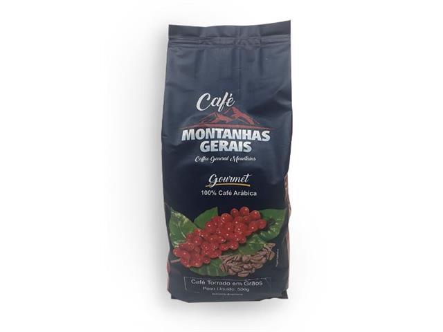 Café Montanhas Gerais Gourmet em Grãos 500g