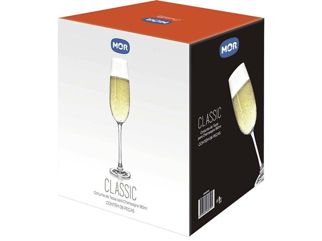 Conjunto de Taças Champagne MOR Classic 180ml 6 Peças - 2