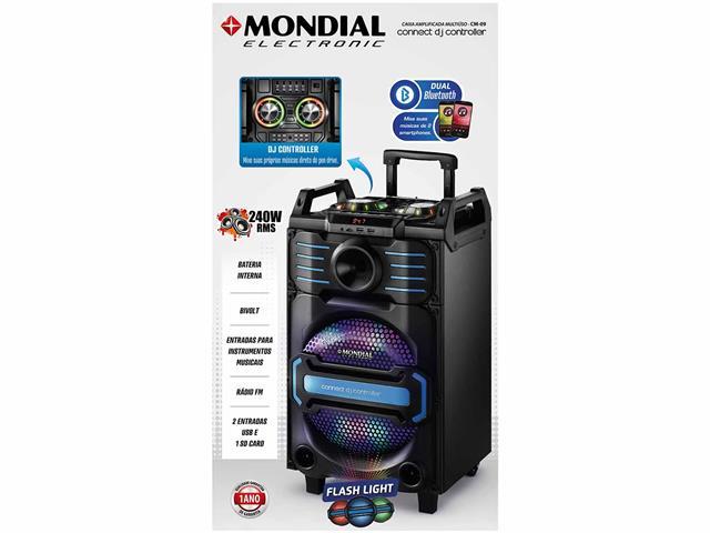 Caixa Amplificada Mondial Connect DJ Controller Bivolt - 1