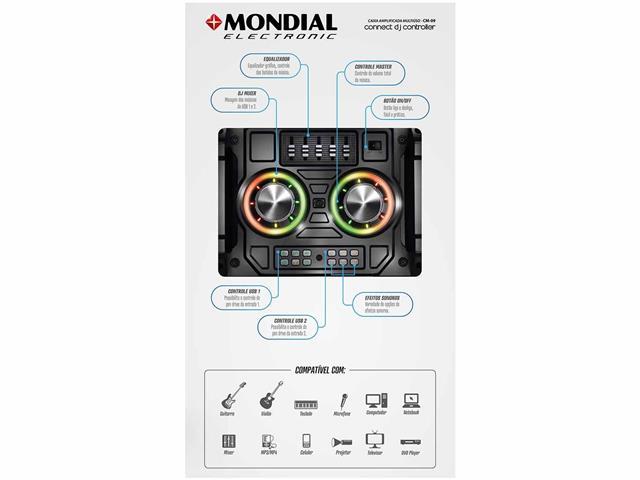Caixa Amplificada Mondial Connect DJ Controller Bivolt - 2