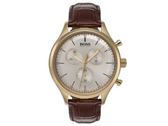 Relógio Hugo Boss Masculino Couro Marrom   - 0