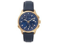 Relógio Nautica Masculino Couro Azul