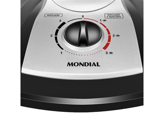 Ventilador de Mesa Mondial Turbo Tech Repelente Pastilha 40cm - 3