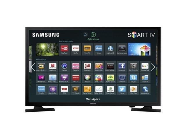 "Smart TV LED 32"" HDTV Samsung Conversor Digital 2 HDMI 1 USB Wi-Fi"