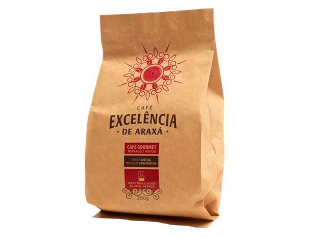 Café Excelência de Araxá Gourmet Torrado e Moído 250g