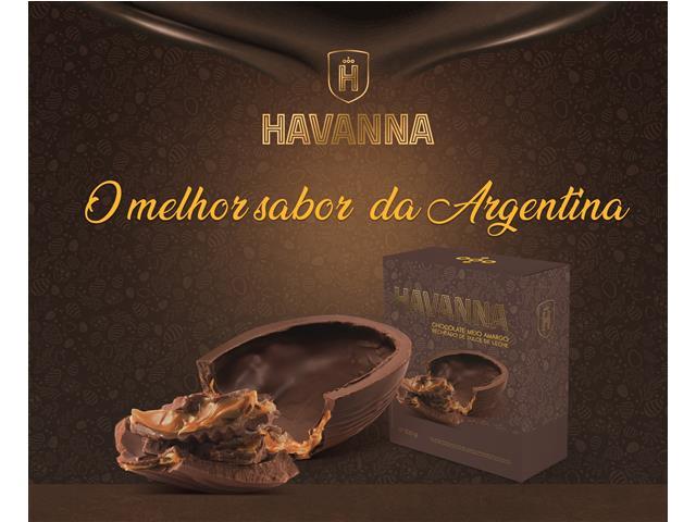 Ovo de Páscoa Havanna Meio Amargo Recheado com Doce de Leite 300G - 3