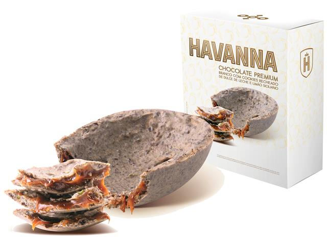 Ovo de Páscoa Havanna Branco com Limão Siciliano e Doce de Leite 300G