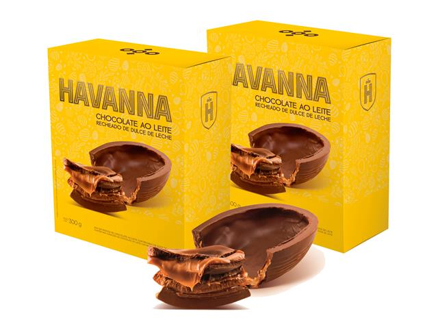 Combo Ovos de Páscoa Havanna Ao Leite Recheio Doce de Leite 300G 2 Uni