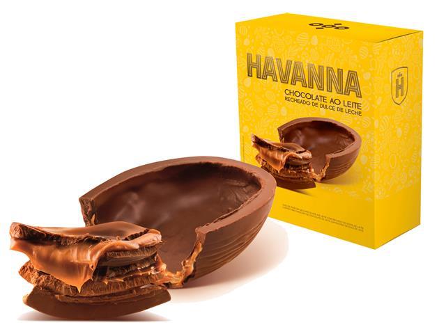 Combo Ovos de Páscoa Havanna Ao Leite Recheio Doce de Leite 300G 2 Uni - 1