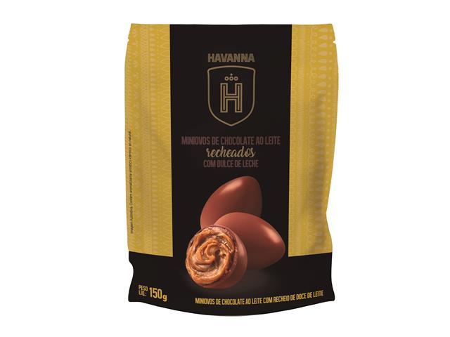 Mini ovos Havanna Chocolate ao Leite Recheado com Doce de Leite 150G - 3