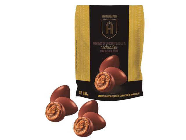 Mini ovos Havanna Chocolate ao Leite Recheado com Doce de Leite 150G - 1