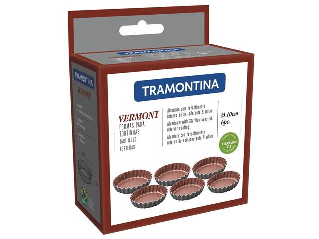 Jogo Mini Forma Tramontina Vermont para Tortinhas 6 Peças - 1