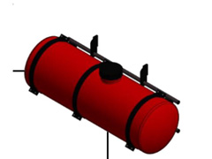 Máq. Drop Plantadora cana Cap. 600 l Controle Elétrico Hidráulico