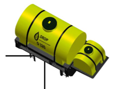 Máq. Drop cap. 320 l 1 bomba elétrica de menbrana - linha Smart - 0
