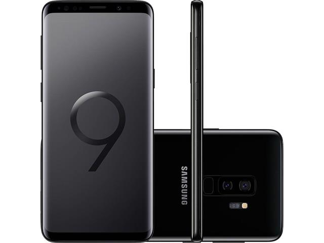 "Smartphone Samsung Galaxy S9+ 4G Dual Chip Tela 6.2"" 128GB 12MP Preto"