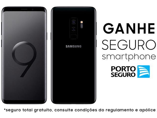 "Smartphone Samsung Galaxy S9+ 4G Dual Chip Tela 6.2"" 128GB 12MP Preto"