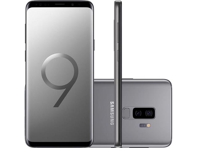 "Smartphone Samsung Galaxy S9+ 4G Dual Chip Tela 6.2"" 128GB 12MP Cinza"