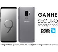 """Smartphone Samsung Galaxy S9+ 4G Dual Chip Tela 6.2"""" 128GB 12MP Cinza"""