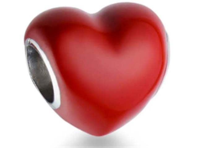 Berloque Vivara Life Coração Vermelho Esmaltado