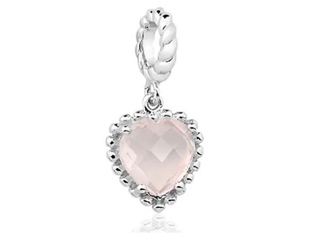 Berloque Vivara Life Pedra Coração Quartzo Rosa