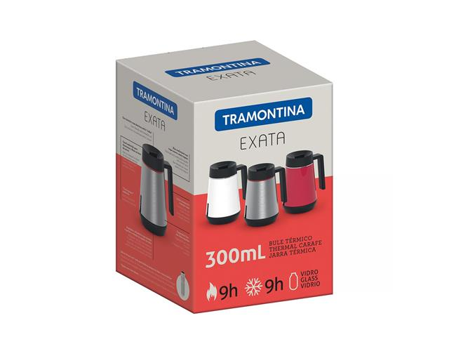 Bule Térmico Exata Tramontina com Infusor Vermelho 300mL - 2