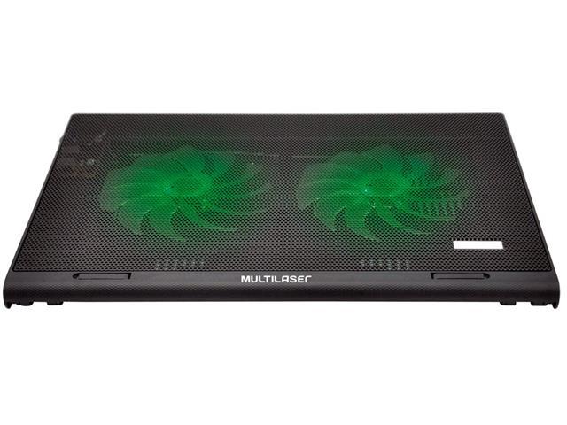 Cooler para Notebook Multilaser Warrior Power Gamer LED Verde AC267 - 1