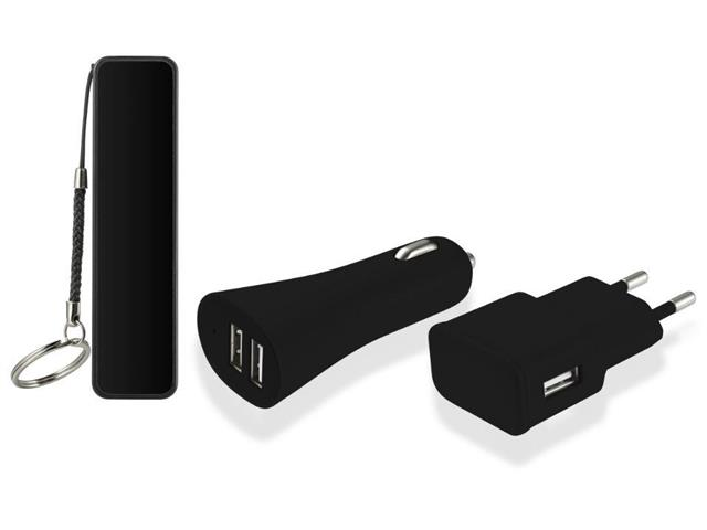 Kit 3 em 1 Multilaser Power Bank e Carregador Automotivo/Parede