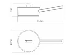 Panela em Aço Inox Tramontina Brava 16cm - 1