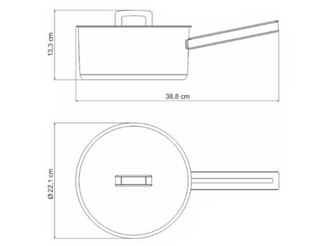 Panela em Aço Inox Tramontina Brava 20cm - 1