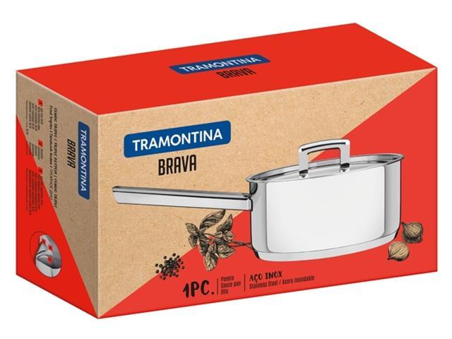 Panela em Aço Inox Tramontina Brava 20cm - 2