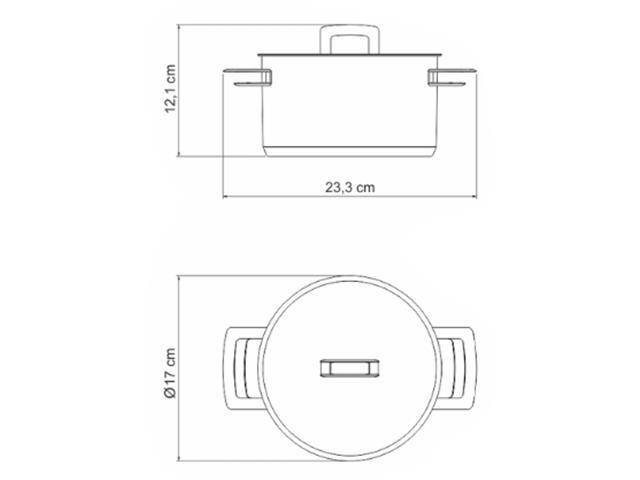 Caçarola Funda em Aço Inox Tramontina Brava 16cm - 1