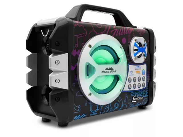 Caixa de Som Portátil Lenoxx Music Wave MP3 USB FM Bluetooth Karaokê - 1